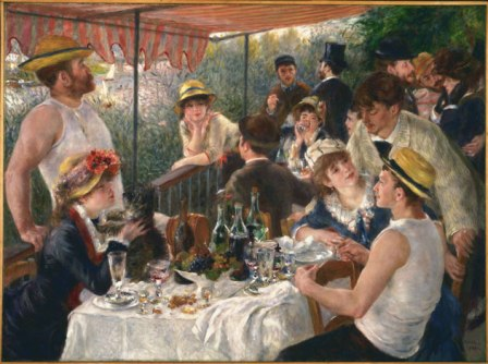 Le Déjeuner des Canotiers by Pierre-August Renoir (Charles Ephrussi is the gentleman in the background wearing a top hat, with his back to the viewer.)